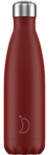 CHILLY'S MATTE 500ML RED VACCUUM FLASK
