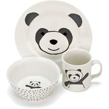 JELLYCAT PANDA CERAMIC BOWL CUP AND PLATE