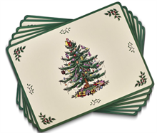 SPODE CHRISTMAS TREE PLACEMATS S/6