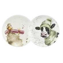 CHRISTMAS COUPE PLATE S/2 (DUCK & DONKEY)