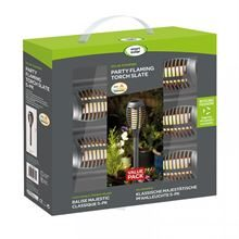 SMART GARDEN PARTY FLAMING TORCH SLATE, 5PC CARRY PACK