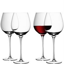CLEAR SET OF 4 WINE GLASSES