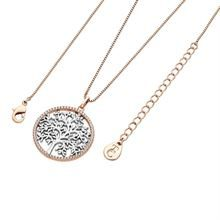 TIPPERARY SILVER TOL IN ROSE GOLD CZ CIRCLE PENDANT