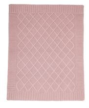 MAMAS & PAPAS KNITTED BLANKET DUSKY ROSE PINK