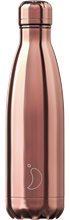 CHILLY'S CHROME 500ML ROSE GOLD VACUUM FLASK