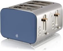 SWAN 4 SLICE NORDIC STYLE TOASTER, BLUE