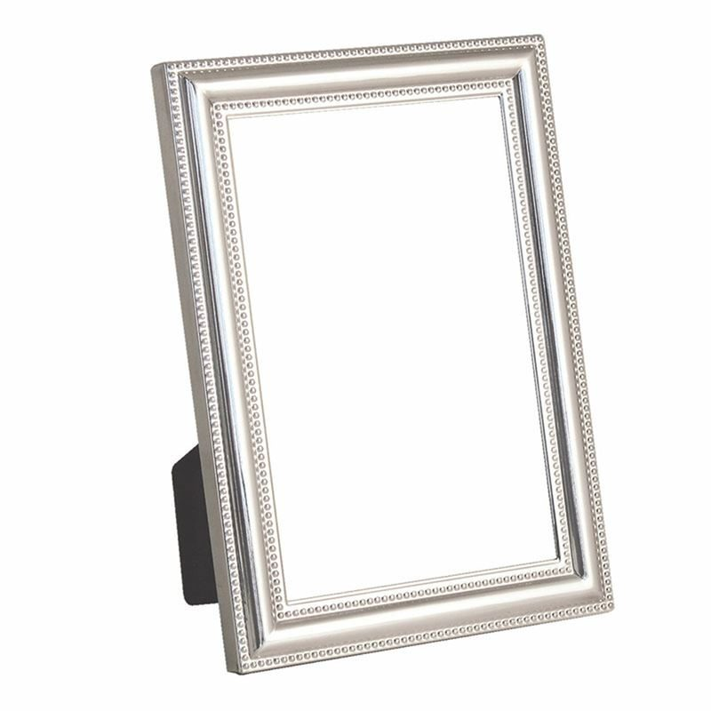 Beaded Edge Silver Plated Frame 4 Inch x 6 Inch
