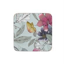 CREATIVETOPS PREMIUM BUTTERFLY FLORAL PACK 6 COASTERS