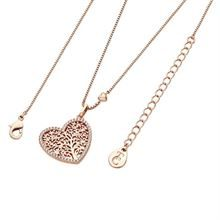 TIPPERARY ROSE GOLD TOL PAVE HEART PENDANT